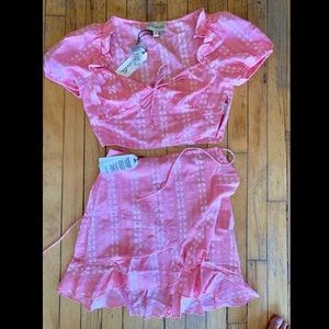 NWT Cleobella Embroidered Outfit Set S